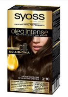 Крем-фарба Syoss Oleo Intense 3-10 глибокий каштановий