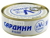 Сардина De Luxe Valmis в олії ж/б ключ 240г