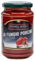 Соус Romeo Rossi томатний з білими грибами с/б 350г