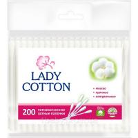 Ватні палички гігієнічні Lady Cotton, 200 шт.