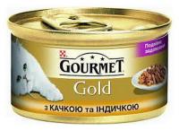 Корм Gourmet Gold для котів Качка і індичка 85г
