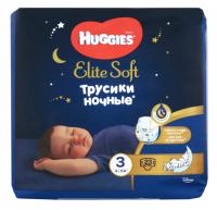 Підгузники-трусики Huggies Elite Soft нічні 6-11кг 23шт.