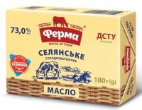 Масло Ферма Селянське солодковершкове 73% 180г