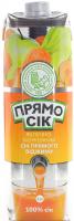 Сік Наш Сік Прямо сік Яблучно-морквяний 1л х12