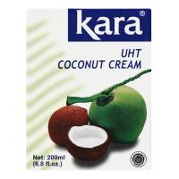 Вершки Kara натуральні кокосові 24% 200мл х25