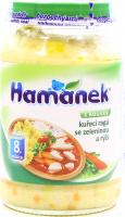 Пюре Hame Hamanek куряче з рисом та шматоч. овочів 190г х6