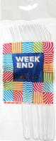 Виделки Week End пластикові прозорі 10шт. 100234