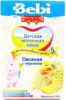 Каша Bebi Premium вівсяна з персиком 250г х12