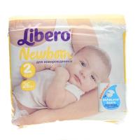 Підгузники Libero Newborn 2 3-6кг 26шт.