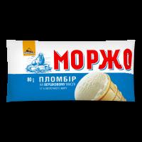 Морозиво Три Ведмеді Моржо Пломбір ваф.стаканчик 80г