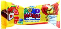 Сирок Локо моко глазурований Полуниця з кальцієм 15% 36г х10