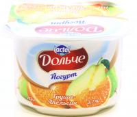 Йогурт Lactel Дольче Груша-апельсин 3,2% 115г х12