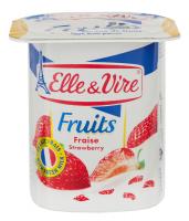 Десерт Elle&Vire Fruits молочний з полуницею 125г х4