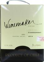 Вино Winemaker B&B Chardonnay біле сухе 3л х2