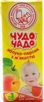 Сік ОКЗДХ Чудо чадо яблуко-персик з м`якоттю 0,2л х12