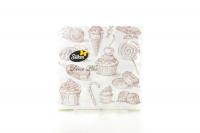 Серветки паперові сервірувальні Silken Decor Plus Десерт, 25 шт.