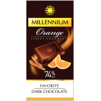 Шоколад Millennium Favorite Orange чорний 100г