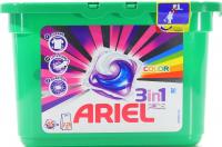 Капсули для прання кольорових тканин Ariel Pods 3в1 Color Automat, 15 шт.
