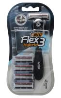 Бритва Bic Flex&Easy +4картриджа