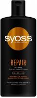 Шампунь для сухого та пошкодженого волосся Syoss Repair Відновлення, 440 мл