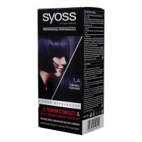 Крем-фарба стійка для волосся Syoss Professional Performance №1-4 Синьо-Чорний