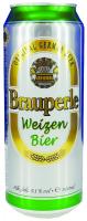 Пиво Brauperle Weizen Bier світле ж/б 0,5л
