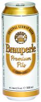 Пиво Brauperle Premium Pils з/б 0,5л
