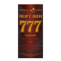 Вино Порт Вин 777 червоний 1л B&B х6