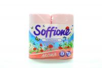 Туалетний папір Soffione Aroma Рожевий, 4 шт.