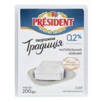 Сир President Творожна Традиція 0% 200г х6