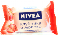 Мило тверде Nivea Зволоження Полуниця і молоко, 90 г