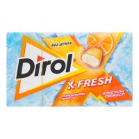 Жув.гумка Dirol X-Fresh мандаринова свіжість 18г х12