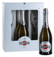 Вино ігристе Martini Astі біле 7,5% 0.75л + 2 келиха (короб)