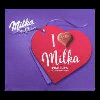 Цукерки Milka молочний шоколад з горіховою начинкою 110г
