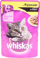 Корм Wiskas д/котів з куркою в соусі 100г