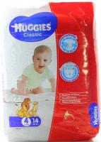 Підгузники Huggies Classic 7-18кг 14шт x6