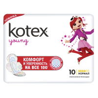 Прокладки Kotex Young Normal  10шт х6