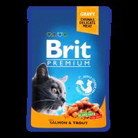 Корм Brit premium з лососем та фореллю 100г х6