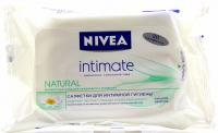 Серветки вологі для інтимної гігієни Nivea Intimate Natural, 20 шт.