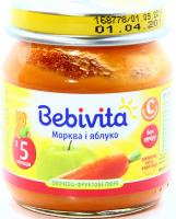 Пюре Bebivita овочево-фруктове Морква і яблуко 100г х6