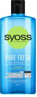 Шампунь міцелярний для нормального та тонкого волосся Syoss Pure Fresh Очищення та Щоденний Догляд, 440 мл