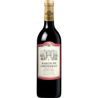 Вино Baron De lirondeau Rouge medium dry 0.75л