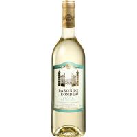 Вино Baron De lirondeau Blanc medium dry 0.75л