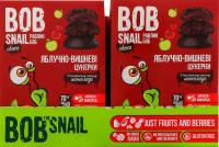 Цукерки Bob Snail Choc Яблучно-вишневі в чорн.шок. 60г х15