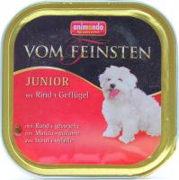 Корм Vom Feinsten Junior з ялов. та птицею  д/собак 150г х10.