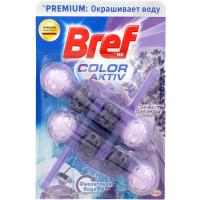 Засіб Bref для унітаза Color Aktiv Лаванда 2*50г x9