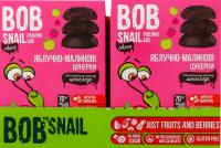 Цукерки Bob Snail Choco яблучно-малинові в чорн.шок.  60г х15