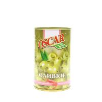 Оливки Oscar фаршировані креветкою зелені ж/б 314мл х12