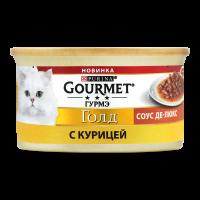 Корм Gourmet Gold для котів курка 85г х12
