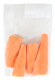 Морква очищена мита ціла в/у 0,5кг